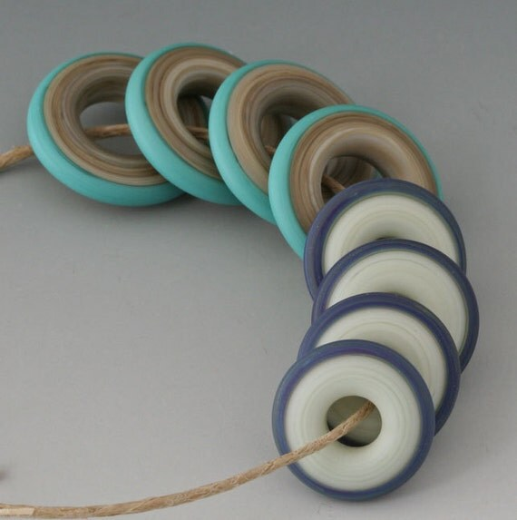 RESERVED for Ana - Chunky Rings - (8) - Teal, Lavender, Turquoise - Etched, Matte - (14) Rustic Odds and Ends
