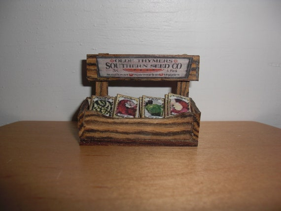 Reserved for Matthew Dollhouse Miniature Garden Seed Packet Display