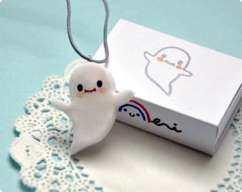 Cute Scary Ghost FIMO pendant