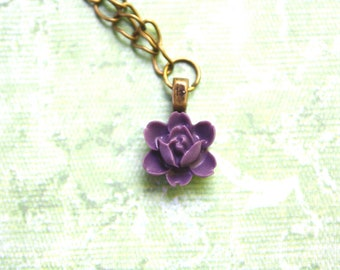 Lavender flower necklace