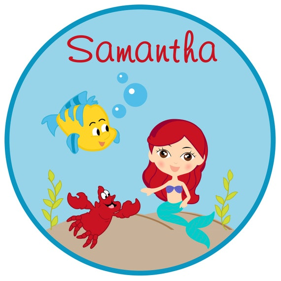 Personalized Little Mermaid Under the Sea Shirt or Bodysuit  -  personalized with ANY name