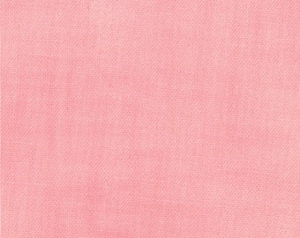 NORTHCOTE RANGE Cabbages & Roses Moda shabby quilt fabric prairie style solid blender salmon pink 1 yard 35208-11