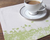 High Line Placemats in Citrus on Cream, Set of 4 and Ready to Ship ON SALE