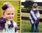 PATTERN Dahlia Poncho and Headband Crochet PDF Pattern