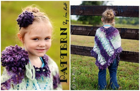 PATTERN Dahlia Poncho and Headband Crochet PDF Pattern