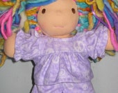 Pajamas made to fit the Waldorf 7 to 8 inch style dolls