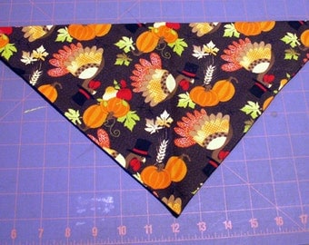 Dog Bandana Thanksgiving, Fall, Autumn, Harvest, turkey, pumpkin, apple