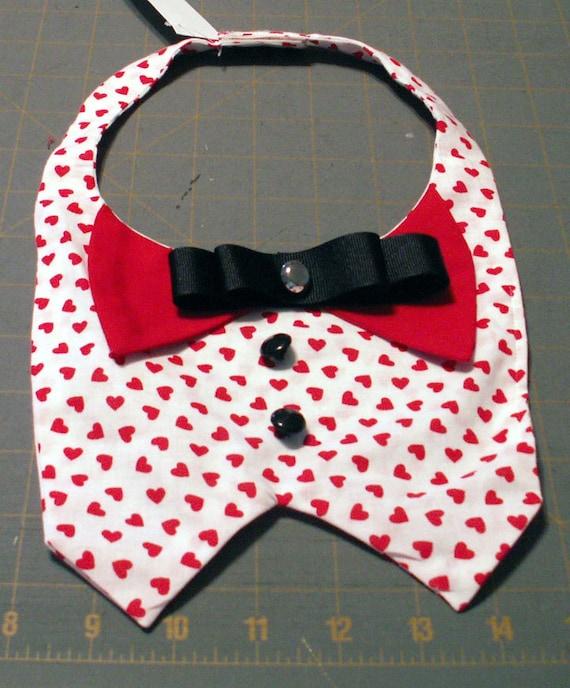 Valentines dog vest bandana