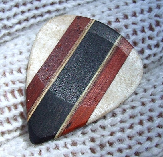 Custom Wood Guitar Pick - Handmade Exotic and Domestic Woods - Premium Guitar Pick