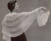 Vintage 1950s Pattern Book Stoles Capes Shorties Knitting Crochet Hairpin Lace