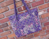 Quilted Handbag, Women's Quilted Purse, Large Handbag