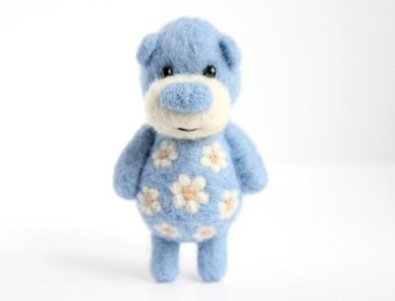 Pocket Tender Blue Blossoming  pocket Bear
