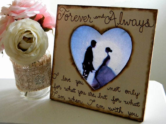 Wedding Picture Frame Personalized Rustic Woodland Shabby Chic