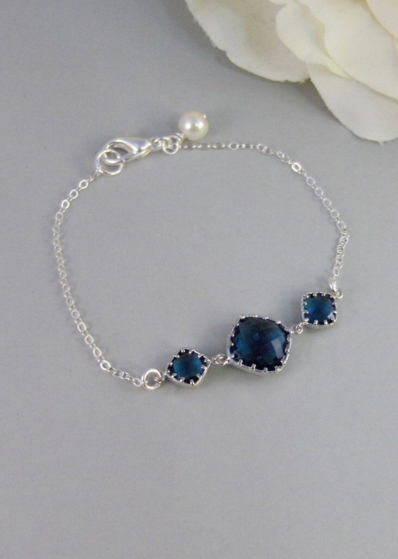 Something Blue Too,Bracelet,Sapphire,Sterling Silver,Jewelry,Blue,Silver Bracelet,Bride,Wedding,Bridesmaid. Jewelry by valleygirldesigns.