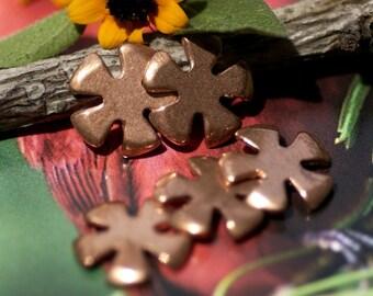 Copper Flower 5 Petal for Blanks Enameling Stamping Texturing Soldering Blanks
