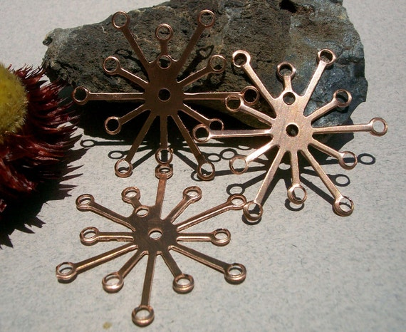 Copper Flower III Setting Rare Item Cutout for Enameling Soldering Stamping Texturing DIY