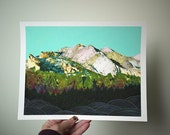 Rain shadow // 8.5 x 11 eco-friendly wall art mountains print