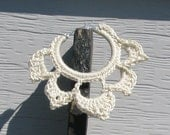 Sterling Silver Plated Crochet Hoop Earrings