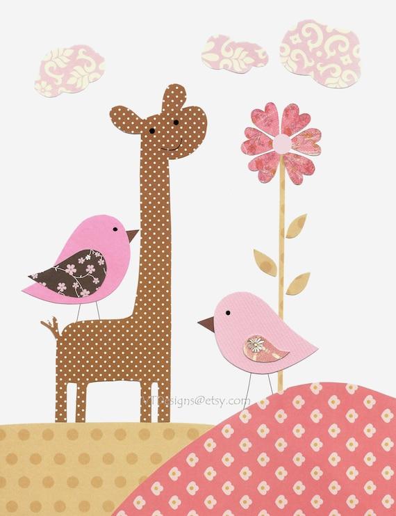 Etsy Girl Nursery Wall Decor : Items similar to kids wall art nursery baby girl