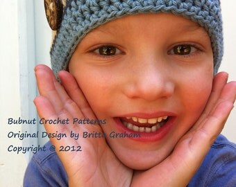 Crochet Hat Pattern - Boys and Girls Quick and Easy Hat Crochet Pattern No.110