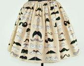 Skirt Mustache Pleated Full Skirt / Moustache Skirt