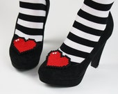 8 Bit Heart Shoe Clips, Pixel Hearts- Black FRiday Cyber Monday