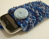 For Alexandra Knit IPhone Case, Phone Cozy,  Knit Phone Sleeve, Blue Phone Sock, Back to School, Blue Phone Sleeve, Knit Blue Phone