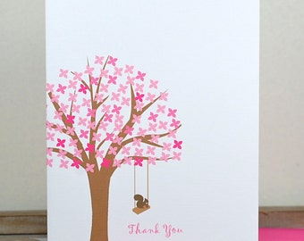 Squirrels, Squirrel Note Cards, Thank You Cards, Trees, Thank You Notes, Stationery, Stationery Gifts, Mother's Day
