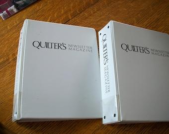Two Quilter's Newsletter Magazine Vinyl BInders