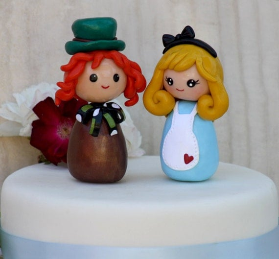 mad hatter wedding cake toppers wedding cake topper in mad hatter made to 16979