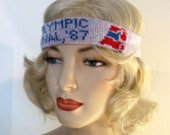 Vintage U.S. Olympic Festival '87 Tennis Headband and Wristbands, In Original Packaging