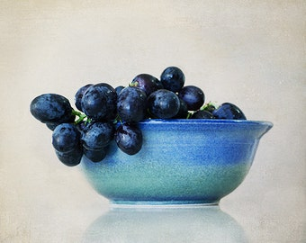 Grapes - Food Art - Kitchen Decor - Still Life - Foodie Decor - 8x10 Fine Art Photograph - Israeli Grapes - Made in Israel