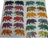 applique bear 24 bear bears batik die cut 6 inch applique quilt craft fabric pieces
