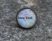 New York City Tie Tack, Lapel Pin, Mens Jewelry