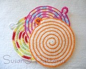 Instant download - Crochet Pattern in PDF - Spiral Macaroni Hot Pads - Simply the Best