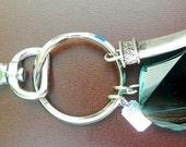 Small Blue Agate Keychain/Bag Charm