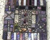 Mosaic Light Switch Plate Cover Raja Double Standard Purple Palace