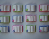 Fondant Cupcake Toppers  Edible 3D Books