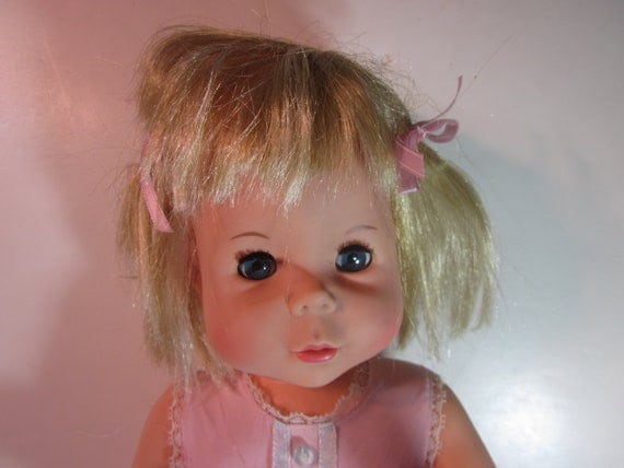 Vintage 1964 Mattel Baby First Step Doll Original By