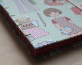 Coptic stitch blank book in fun patterns and faux leather