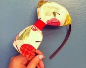 Apple Bow Headband