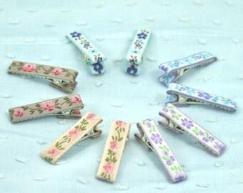 10 flower clips