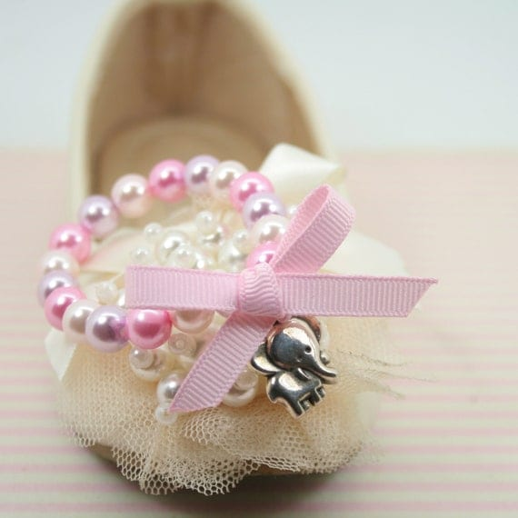 Elephant and pearl bracelet