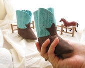 Teal Baby Cowboy Boots A Soft Sole Baby Shoe