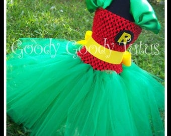 ROCKIN ROBIN Batman and Robin Inspired Tutu Dress - Small - Up to 12/18mos