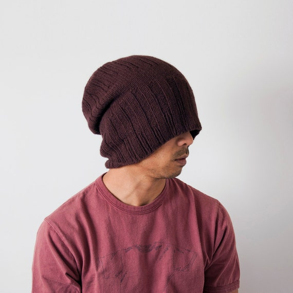 Mens Knit Hat Made by Hand - Divide Alpha