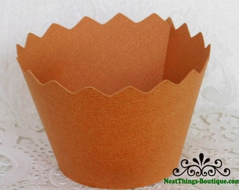 Orange Zig Zag Cupcake Wrappers Wraps 12