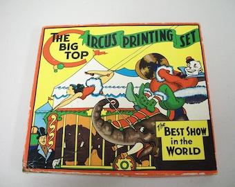 Vintage 30s/40s The Big Top Circus Printing Set
