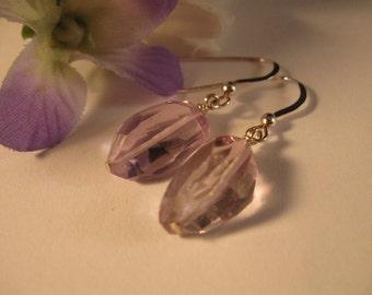 Amethyst gemstone earrings, birthstone earrings, amethyst earrings, silver earrings, gemstone jewelry, drop earrings, dangle earrings