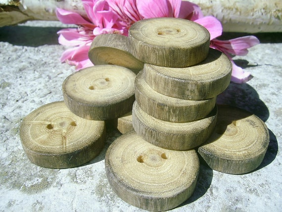10 Spalted Acacia Tree Branch Buttons, 1 inch in diameter